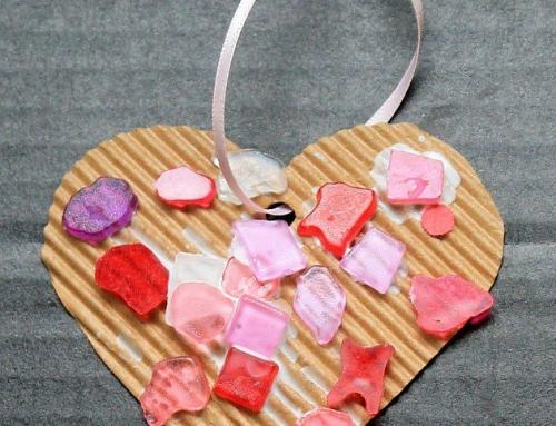 Cardboard Valentine's craft