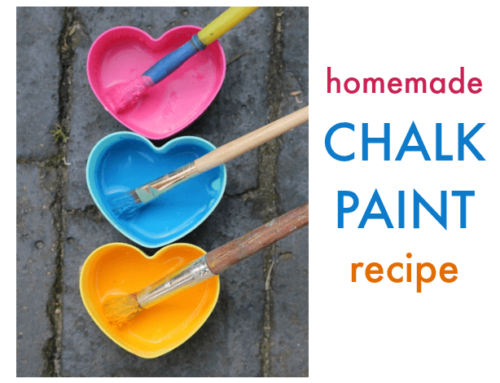 Homemade chalk paint recipe