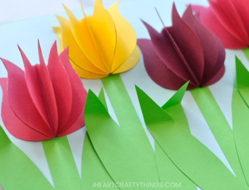 HOW TO MAKE A PAPER TULIP FLOWER CRAFT